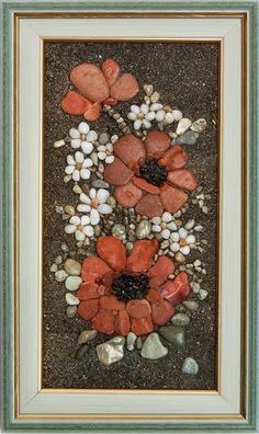 Mariya Maneva - Decoration Fireplace Garden art ideas Home accessories Pebble Mosaic, Pebble Art, Mosaic Art, Stone Crafts, Rock Crafts, Pebble Stone, Stone Art, Pebble Painting, Stone Painting