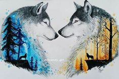Ideas Tattoo Wolf Ideas Spirit Animal Inspiration For 2019 Wolf Tattoos, Animal Tattoos, Cute Drawings, Animal Drawings, Wolf Drawings, Drawing Animals, Pencil Drawings, Stuffed Animals, Wolf Pictures