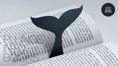 Whale Bookmark: This cool whale bookmark creates an illusion as if the whale is diving into the book.