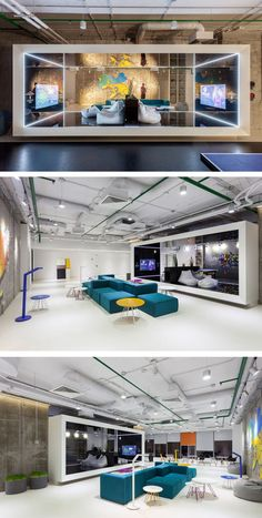 SOESTHETIC GROUP have designed the Ukrainian offices for Playtech, a online gaming software company. Office Space Design, Modern Office Design, Workplace Design, Office Interior Design, Office Designs, Office Lounge, Open Office, Cool Office, Small Office
