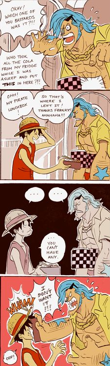 Luffy & Franky XD~ #OnePiece #Luffy #Strawhats