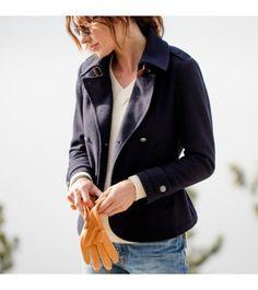 Women's Atlantique Wool Peacoat