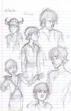 Hiccup! Look at older Hiccup on the top right there o.O.