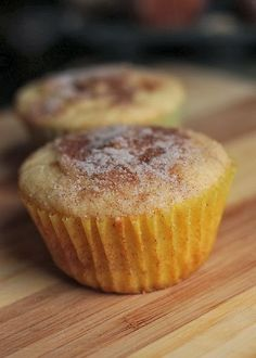 Snickerdoodle Muffins Recipe- looks more like a cupcake to me, but I think Owen would love them!