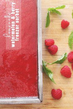 Homemade Watermelon Berry Freezer Sorbet   PepperDesignBlog.com