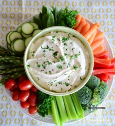 StoneGable: THE DIP -  THE DIP 1 cup sour cream 1 cup mayonnaise 1/2 cup Kraft Parmesan Cheese (in the green shaky can) 1 tsp Lawry's Seasoned Salt 1/2 tsp garlic salt 1 TBS fresh parsley, finely chopped  Mix all the ingredients together.   That's it!