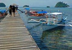 Port of Britania group of islands in Surigao del Sur. That's 15 minutes away from paradise!