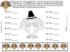 math worksheet : 1000 images about holiday math  thanksgiving on pinterest  : Thanksgiving Addition And Subtraction Worksheets
