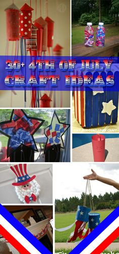 30+ 4th of July Craft Ideas - Neat and fun ways to craft for the holiday with the kids!