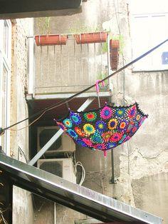 Granny square parasol!