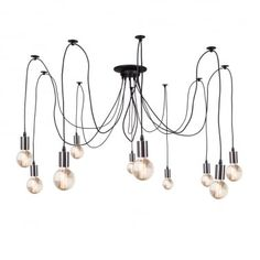 Spider Lamp - Available in 6, 10 & 14 Chrome Hanging Pendants
