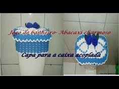 Jogo de banheiro ABACAXI CHARMOSO Capa para a caixa acoplada - YouTube