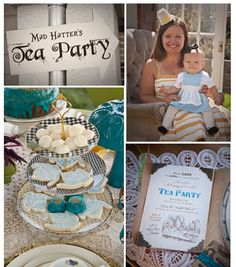 Mommy & Me-Mad Hatter Tea Party Playdate Alice In Wonderland Planning Ideas Tea Party Theme, Tea Party Birthday, First Birthday Parties, Birthday Party Themes, Birthday Ideas, Party Party, Girl Birthday, Mad Hatter Party, Ideas Para Fiestas