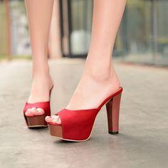 New Womens High Heel Open Toe Slingback Sandal Platform Block Fashion New Shoes