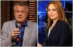 Pedro Bial e Jornalista Rachel Sherazade