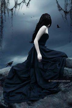Gothic woman fantasy