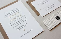 Vermont Classic Wedding Invitation invite, rsvp, printed evn, belly band = 570  with liner = 757.5