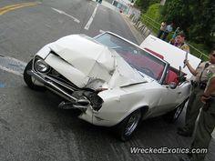 Chevrolet Camaro crashed in Los Angeles, California