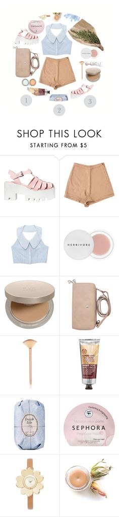 """Three"" by heyyitsmejane ❤ liked on Polyvore featuring Windsor Smith, Herbivore, Eve Lom, The Body Shop, Fresh, Sephora Collection, Michael Kors, fashionset and threecolours"