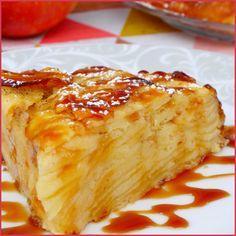 Gâteau invisible aux pommes - Qu'est-ce que le gâteau invisible ? Il s'agit en fait d'un gâteau quasiment 100 % fruits où la pâte est absorbée par les ...