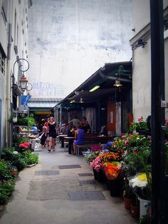 Marché des Enfants Rouges ! The oldest market in Paris - delicious things to eat, flowers, wine, and a found photography shop