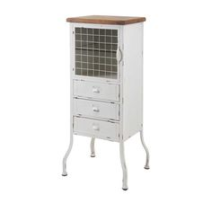 Imax Zane 3-Drawer Metal Cabinet.
