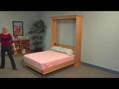 Simple Twin Bed Frame Plans Best Of Vertical Mount Deluxe Murphy Bed Hardware Murphy Bed Kits, Murphy Bed Desk, Murphy Bed Plans, One Room Flat, Murphy Bed Hardware, Fold Up Beds, Horizontal Murphy Bed, Hideaway Bed, Modern Murphy Beds