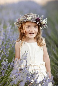 Flower-girl-lavendar-wreath (or to have the flowergirl spread lavendar on the isle instead of pedals!)