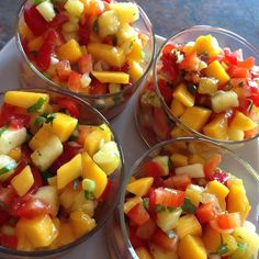 """Mango, Peach and Pineapple Salsa I """"DELICIOUS! I made this for a bridal shower and all the guests loved it. We are sending a copy in the thank you notes :)"""""""