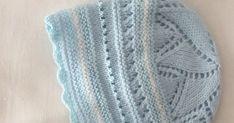 GORRITO DE PRIMERA POSTURA DE LANA CELESTE             Materiales   Lana especial bebé color celeste marca Ofil (color 522, tintada 2170... Color Celeste, Baby Knitting, Knitted Hats, Knit Crochet, Booty, Blanket, Elsa, Fashion, Knitting And Crocheting