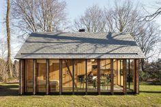 Dutch studio Zecc Architecten has teamed up with interior designer Roel van Norel to create a recreation house in the rural area north of Utrecht, Netherlands.