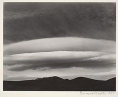Edward Weston - Sunset Over Panamints, Death Valley (1937)