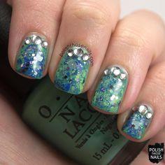 Polish Those Nails: 52 Week Challenge - Saran Wrap + Glitter