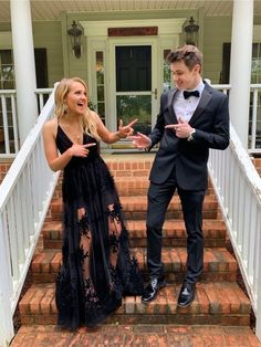 Apr 2020 - black Floor-Length Tulle Prom Dresses,Lace Party – shinydress Prom Pictures Couples, Homecoming Pictures, Prom Couples, Prom Photos, Cute Couples, Prom Pics, Black Couples, Cute Prom Dresses, Prom Outfits