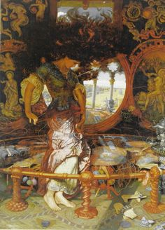 Another depiction of the Lady of Shallott by William Holman Hunt. I have this one framed, and it has hung in every one of my bedrooms since I was 21.