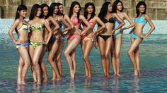 Islamic Defenders Front (FPI) threatens to disrupt upcoming Miss World 2013 beauty pageant in Bali, Indonesia by dumping cockroaches in the contestants' hotel. Bikini Open, Sexy Bikini, Miss World 2013, Filipina Beauty, Miss Usa, Conservative News, Beauty Pageant, Bikini Photos, Opening Ceremony
