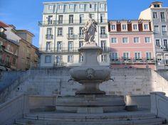 Baroque fountain, Lisbon - Portugal