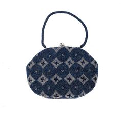 Vintage 50s Evening Bag Blue Purple and Silver by northstarvintage