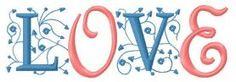 Love machine embroidery design. Machine embroidery design. www.embroideres.com