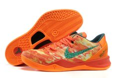 hot sale online 576e8 b4daf Nike Kobe 8 Zoom Kobe Viii Elite Bright Orange New Green,Tiffany Blue Free  Runs 8