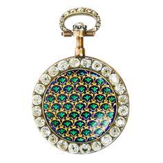 Adamson et Millenet Gold, Enamel And Diamond Cylinder Watch - France   c.1780  -  1stdibs.com