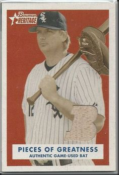 AJ Pierzynski – 2006 Bowman Heritage Pieces of Greatness #AJP