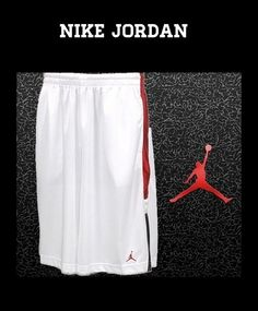 9ff8b98464d NEW MEN'S SIZE LARGE JORDAN SHORTS NIKE BASKETBALL 100% AUTHENTIC WHITE  BLACK #Nike #