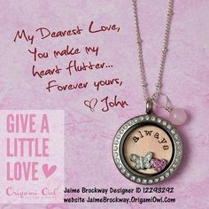 Love the Locket? Order yours today at JaimeBrockway.OrigamiOwl.com  Designer Code 12293292