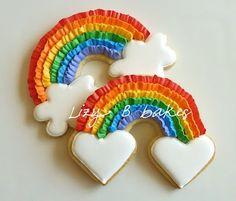 Ruffled Rainbow Cookies