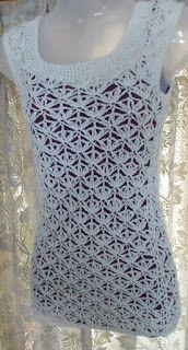 Sweet Nothings Crochet: SNOWFLAKES & SHELLS MOTIF TOP