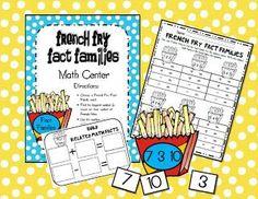 First Grade Fever!: Fact Family Math Center FREEBIE!
