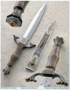 Knifemaker Curt Erickson Engraved by Julie Warenski