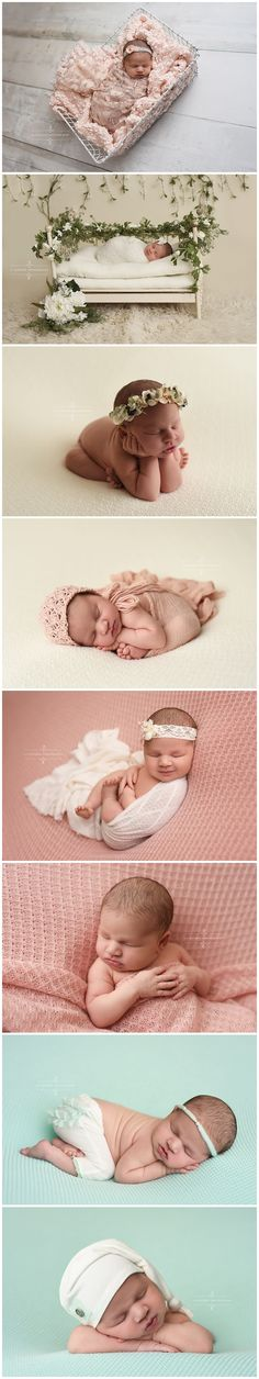 newborn photography studio professional posing cream pink floral vintage crib basket wrap prop virginia richmond 11 Sixteen Photography session picture photo baby