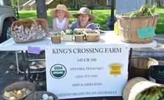 Featured Sustainable Producer Spotlight Story: John and Jimma Byrd own and manage a 110-acre organic pecan orchard in San Saba called King's Crossing Farm. They've been certified organic for twelve years, and are maintaining their certification as their 800 pecan trees mature. In the meantime, they are selling some organic veggies.